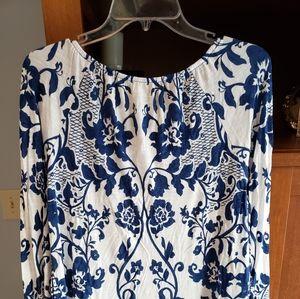 INC pheasant woman's blouse size large.